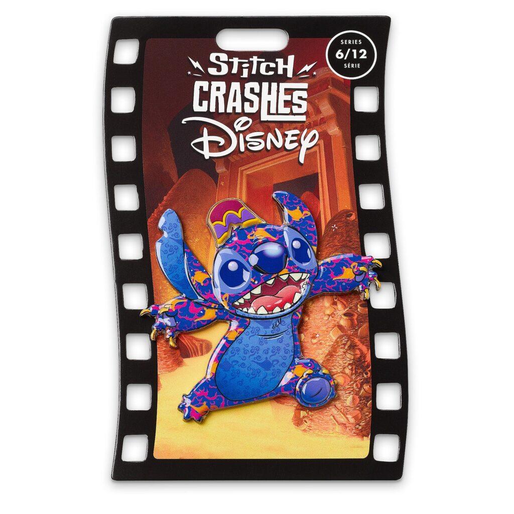 Stitch Crashes Aladdin Pin Card